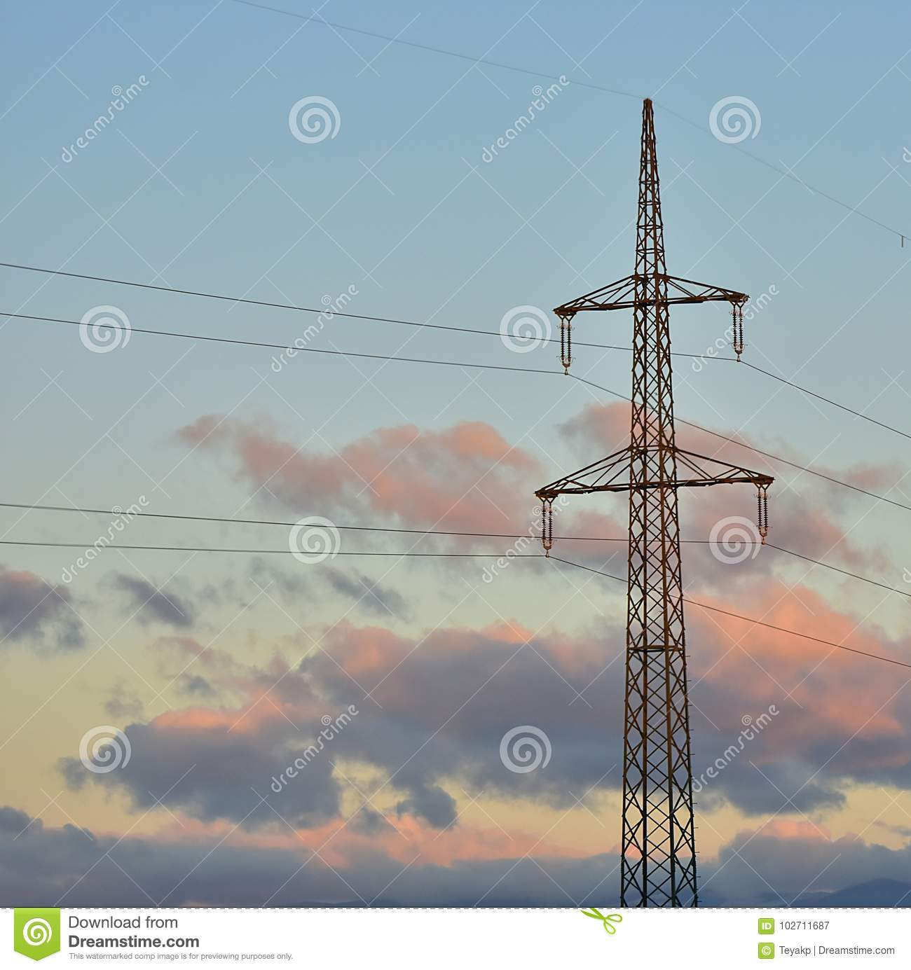 High voltage on power lines