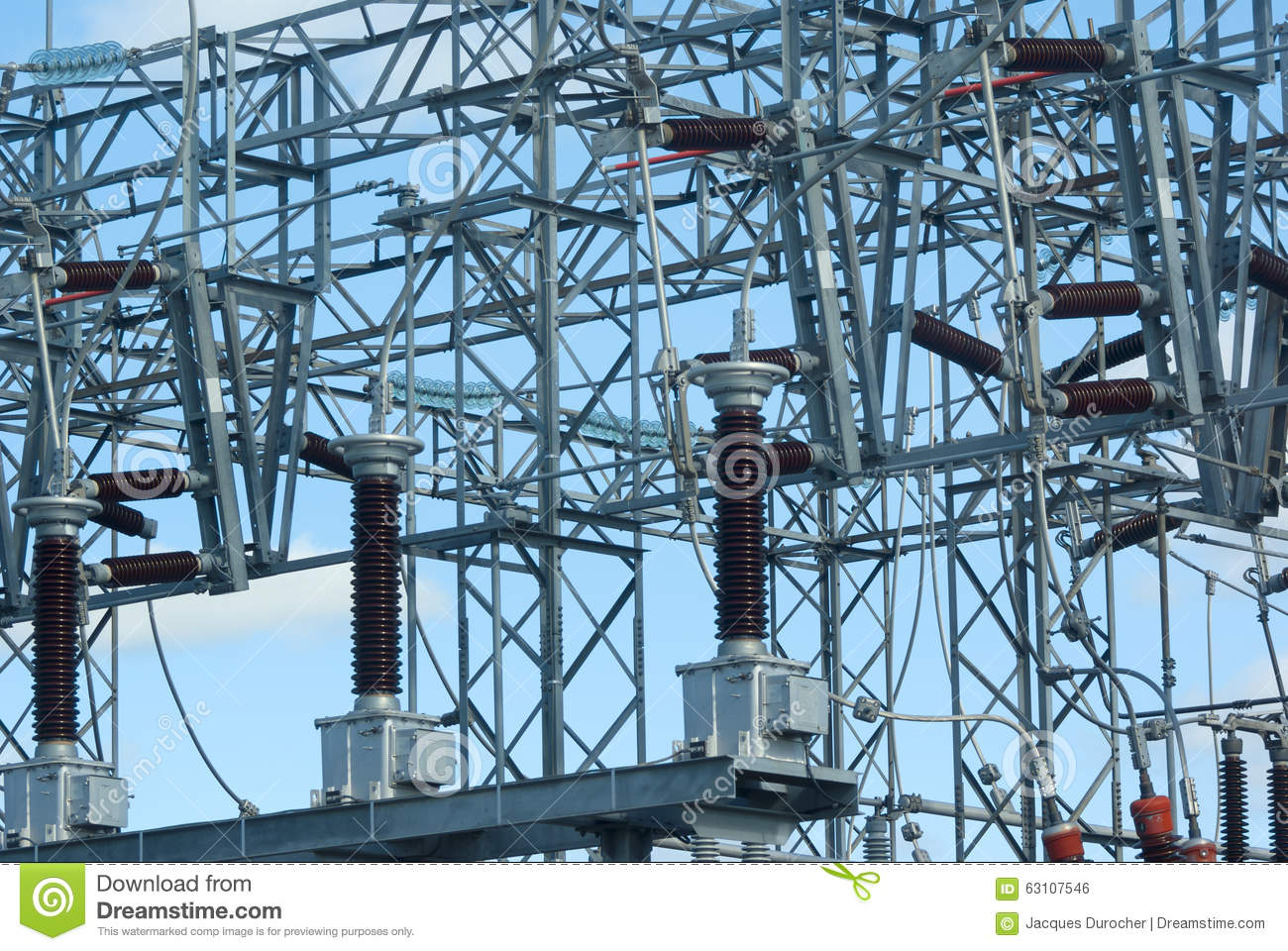 High Voltage Electrical Wire : high voltage power plant electricity distribution wire