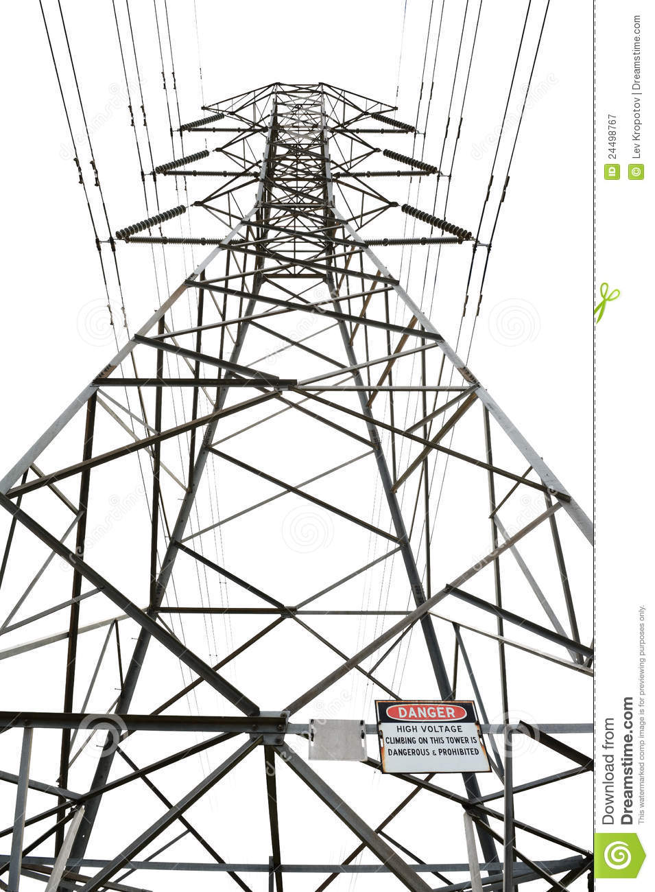 high voltage power pole stock image  image of isolator
