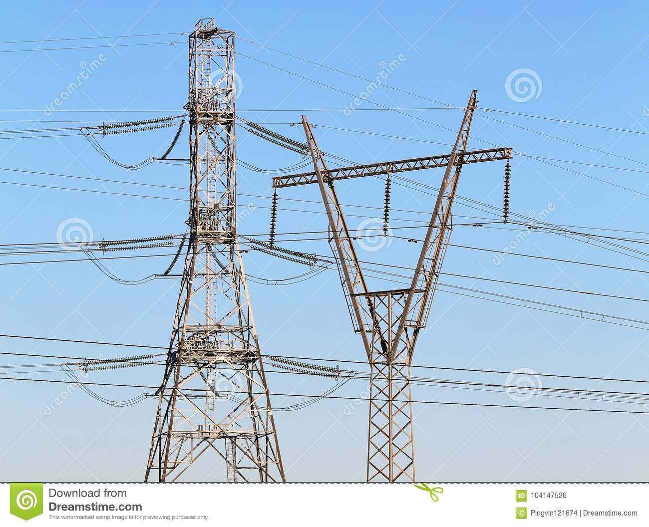 High Voltage Wires | High Voltage Power Transmission Line Stock Photo Image Of Electric