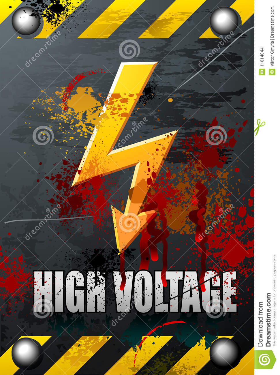 High Voltage Sign Stock Images Image 11614044