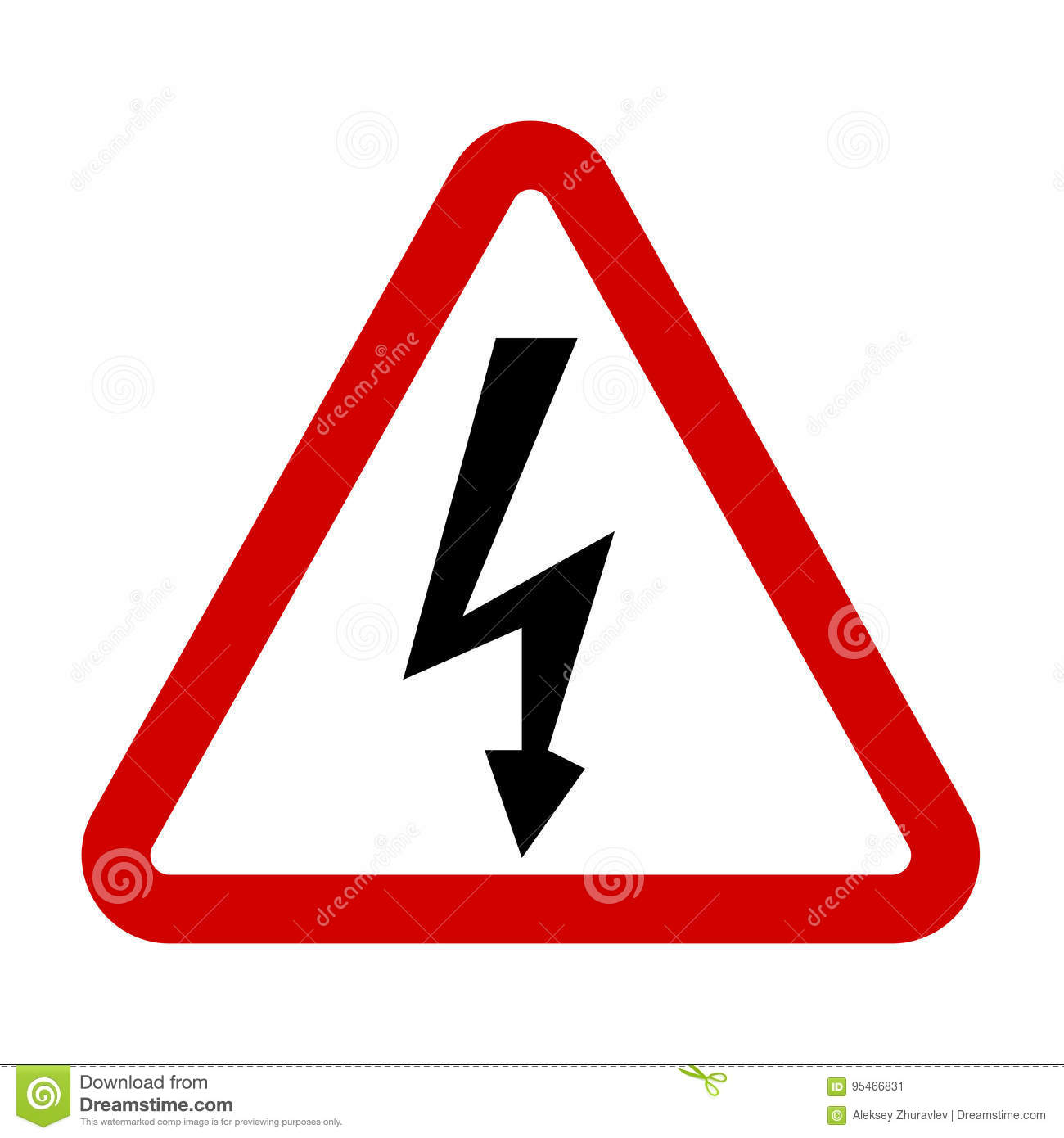 High Voltage Sign. Danger Symbol. Stock Vector - Image ...