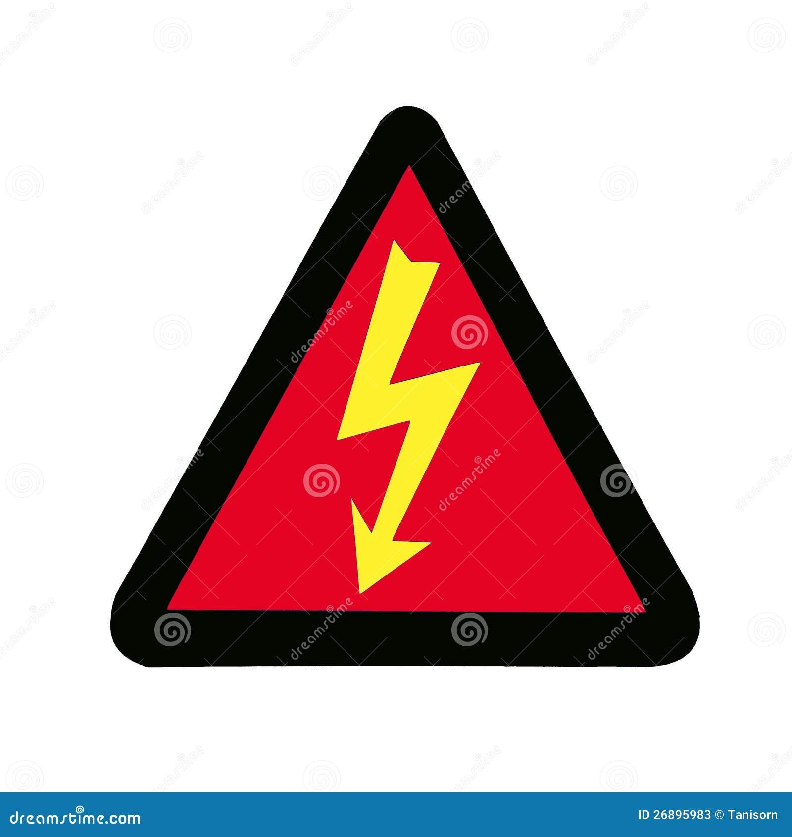 High Voltage Sign Symbol Stock Illustration Illustration Of Notice