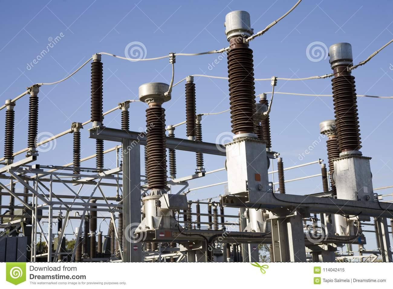 High Voltage Switch Yard Equipment Stock Image - Image of