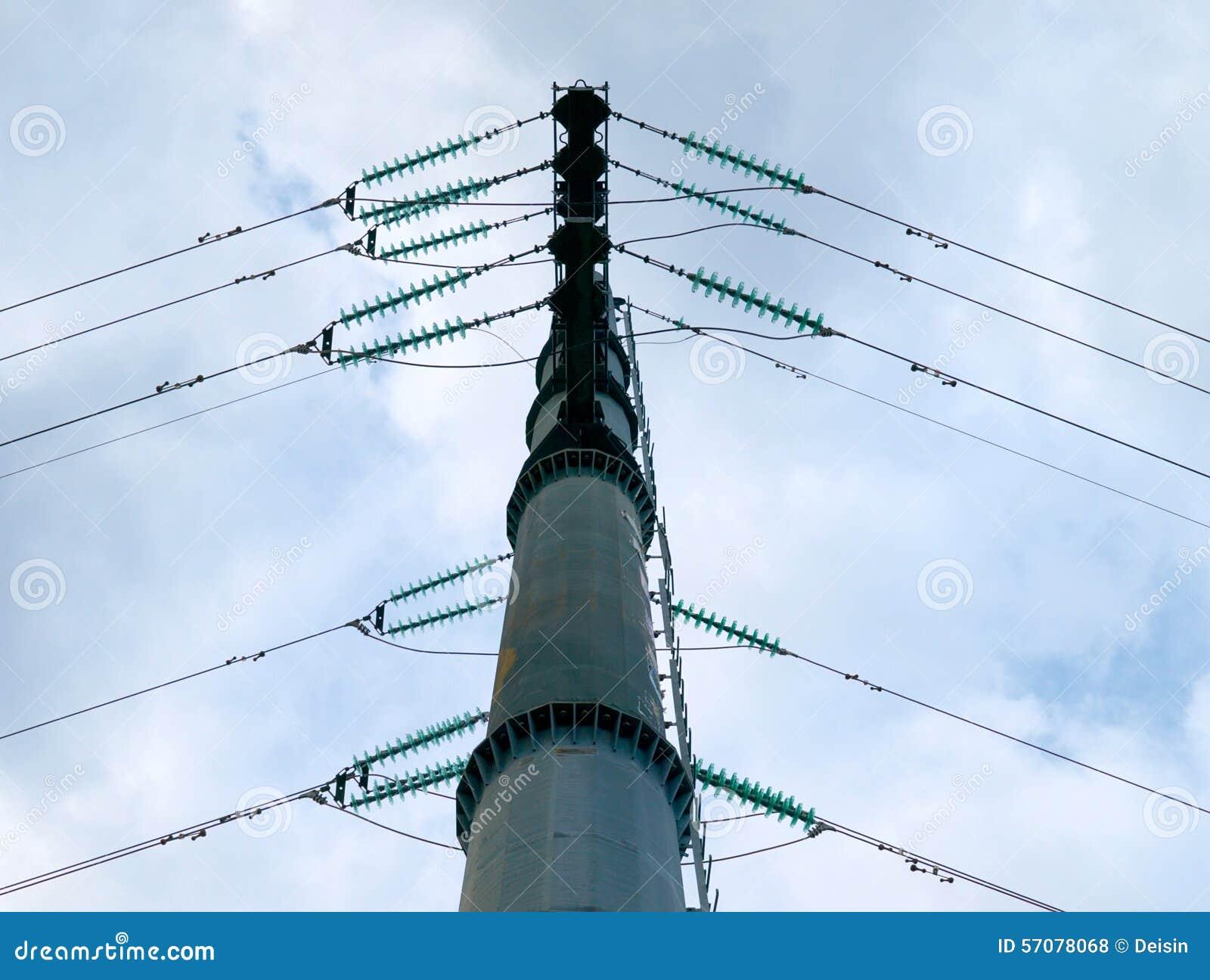 High Voltage Transmission Line Cable : High voltage transmission line stock photo image