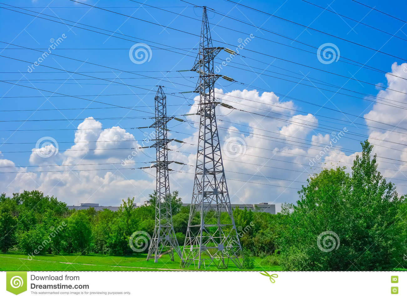 High voltage transmission line pylon tower