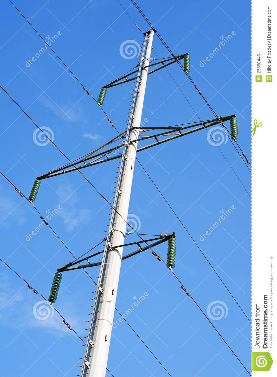 High Voltage Transmission Lines : High voltage transmission line tower royalty free stock