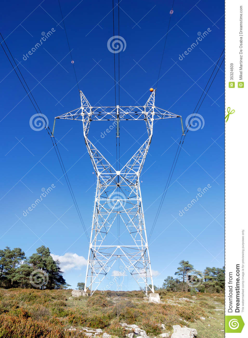 High Voltage Transmission Tower Royalty Free Stock Images
