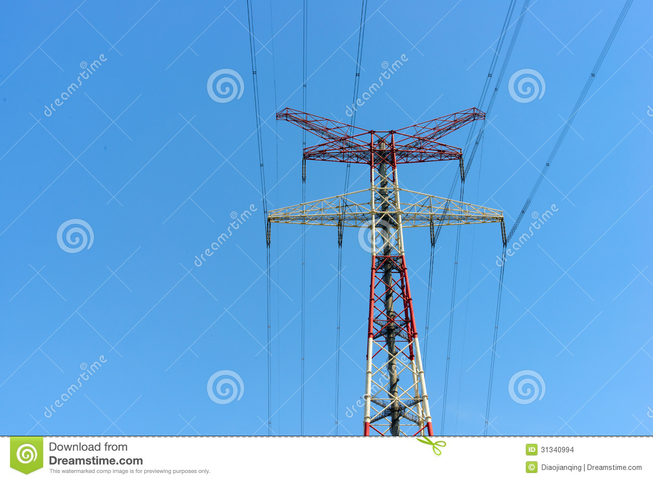The High-voltage Wire Tower Stock Photo - Image of pole, industrial ...