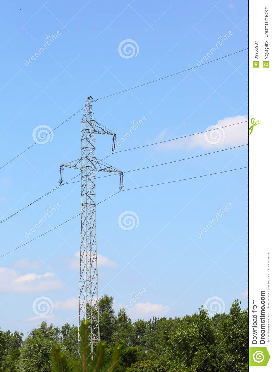 High-voltage Wire Tower Electricity Pylons Stock Image - Image of ...