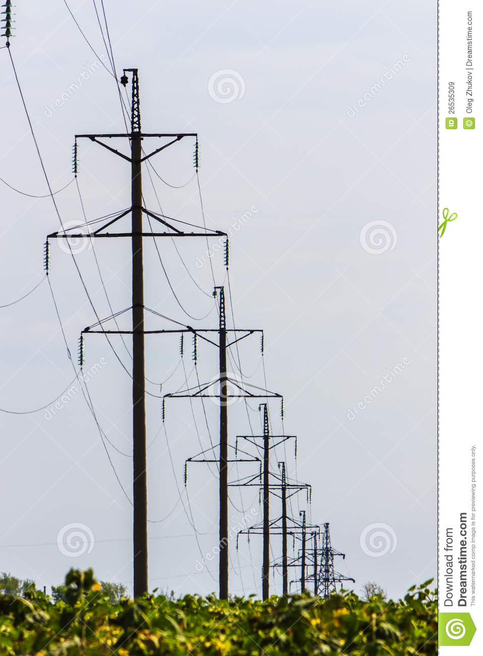 High Voltage Transmission Lines : High voltage wires power transmission lines royalty free