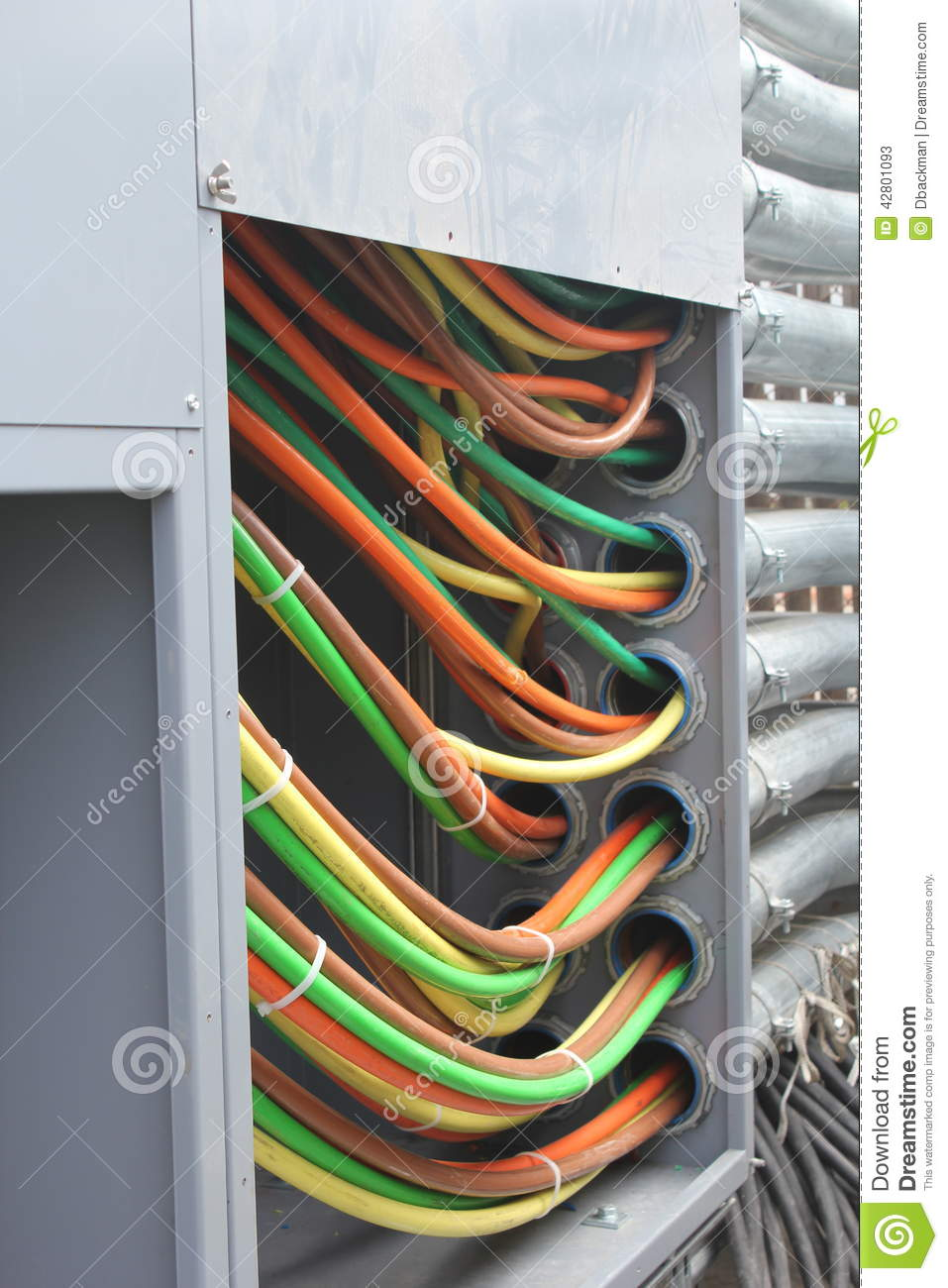 High Voltage Wiring Stock Image Of System Cogen 42801093 Cable Contractor Cogeneration Generator Ups Electrical Installation Pipe