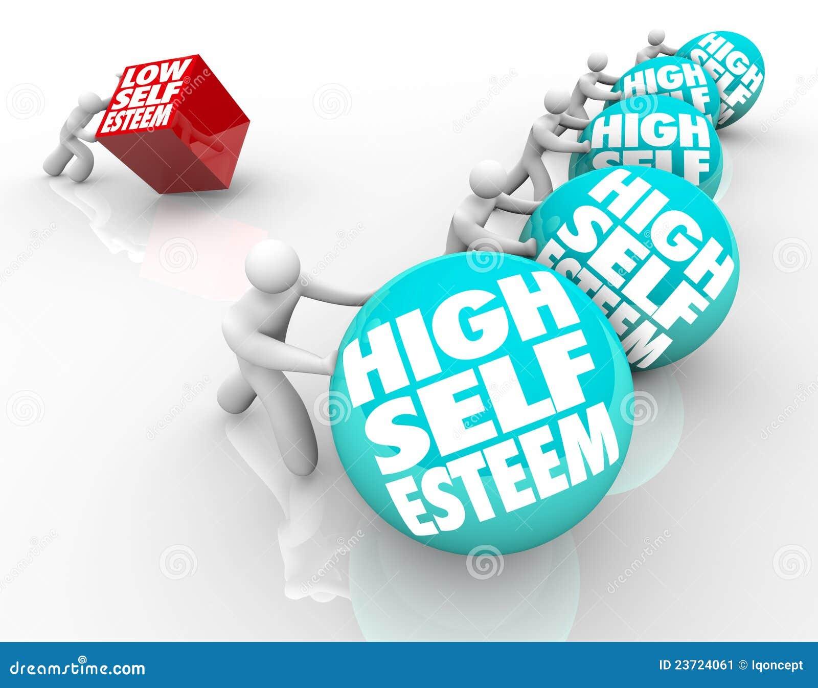 People with high self esteem high vs low self esteem losing