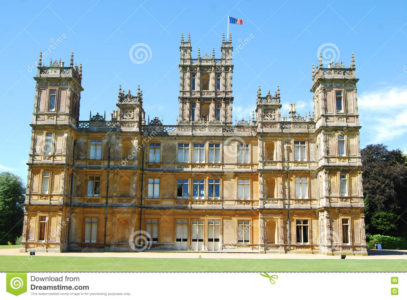 Floor Plans Of Tv Show Houses Highclere Castle Known Popularly As Downton Abbey Stock