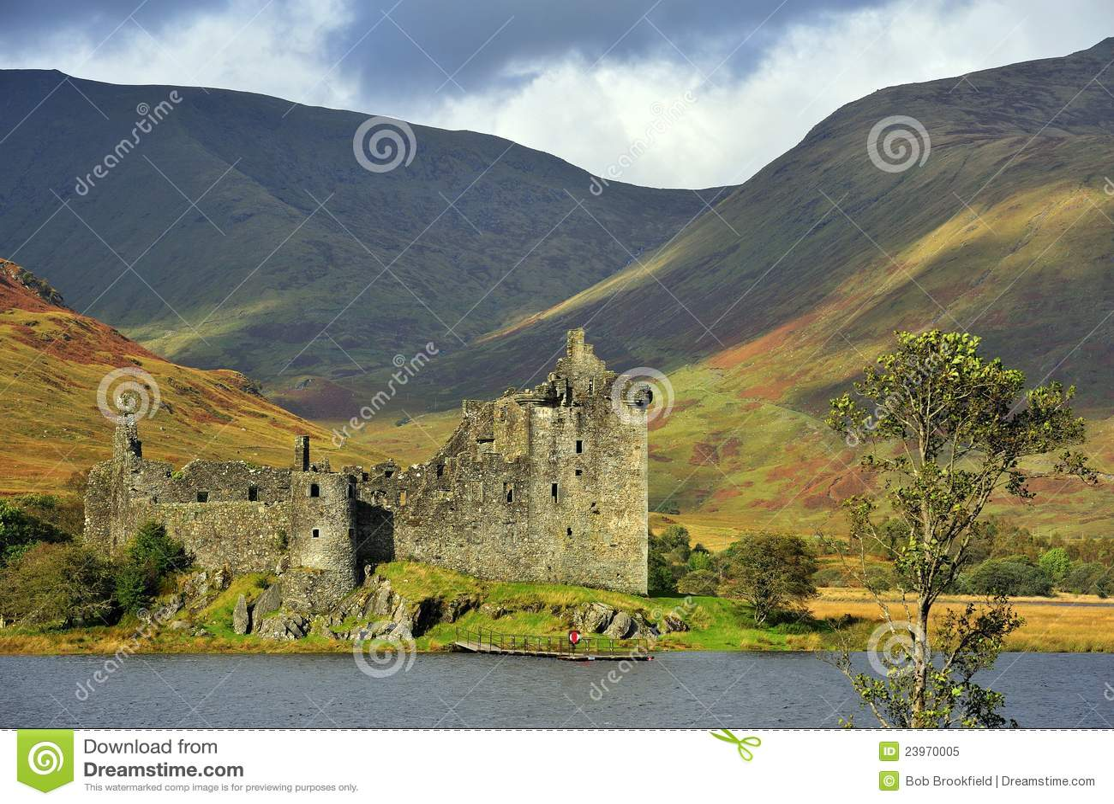 Highland castle, Kilchurn, Scotland