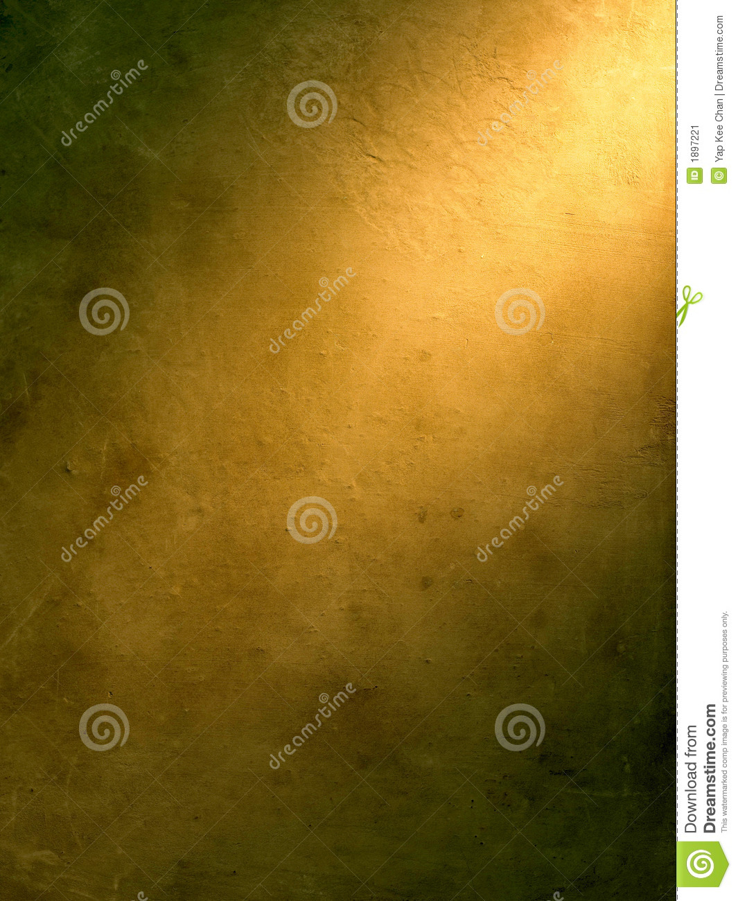 Highlight in gold background