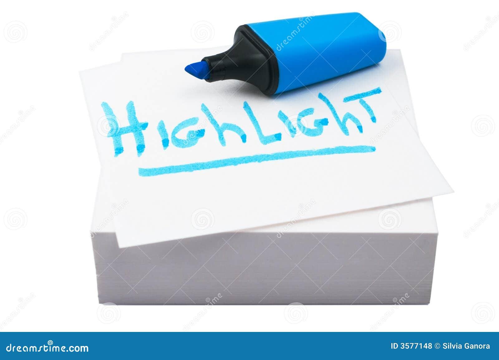 Highlighter blu