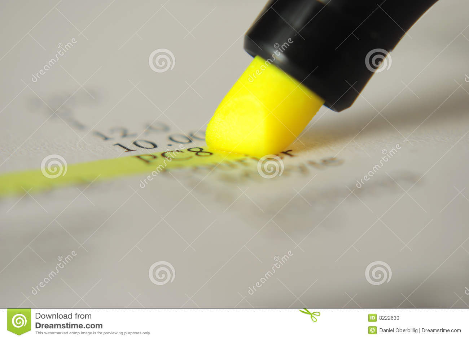 Highlighter giallo