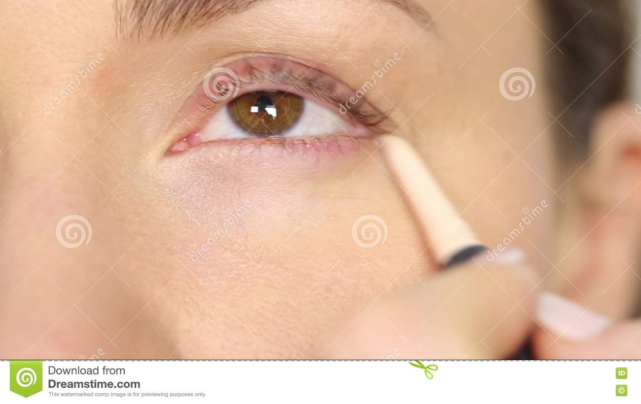 Highlighter Makeup For Eyes And Eye Corners Stock Video Video Of