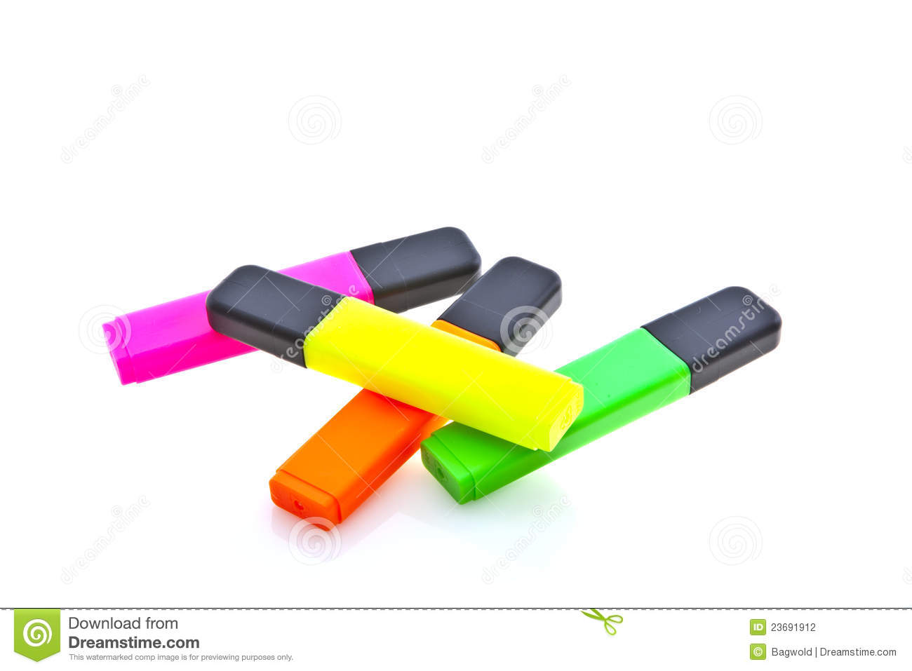 Highlighter Marker Pens Stock Photography - Image: 23691912