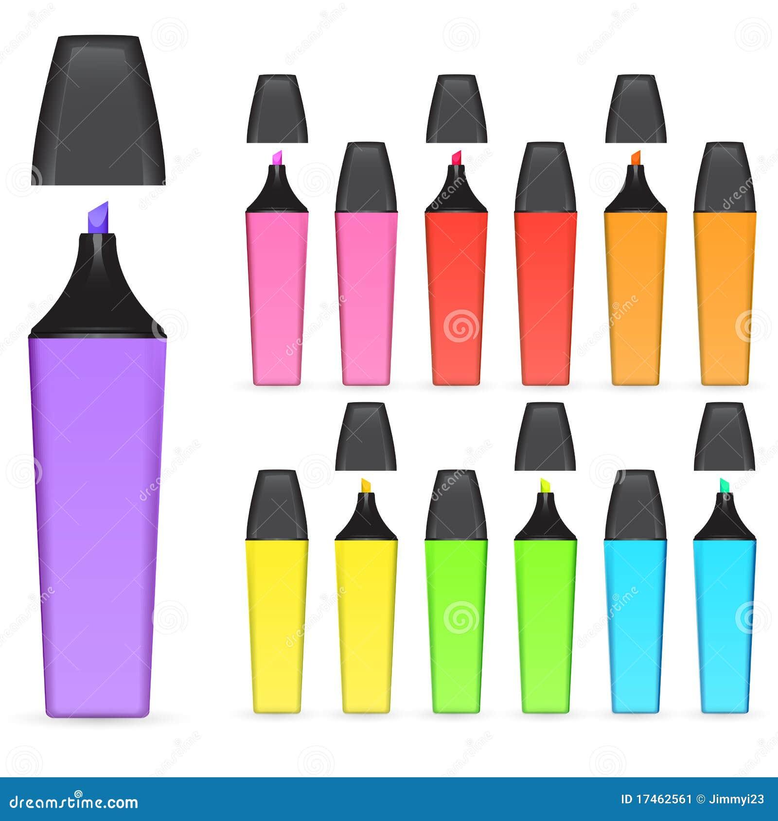 Download Highlighter pen stock vector. Illustration of stationary - 17462561
