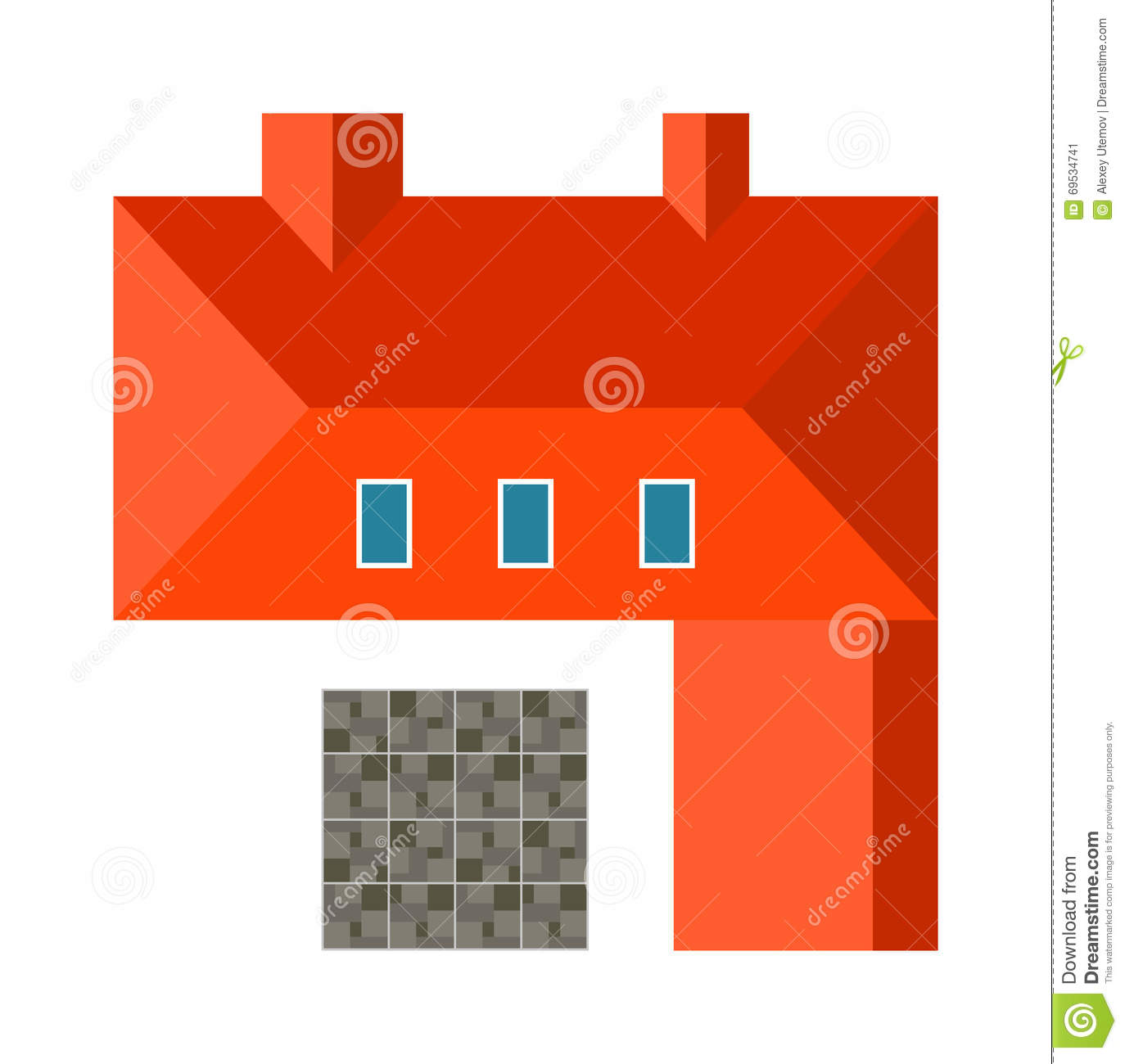 Highly detailed house top view landscape design for House design top view