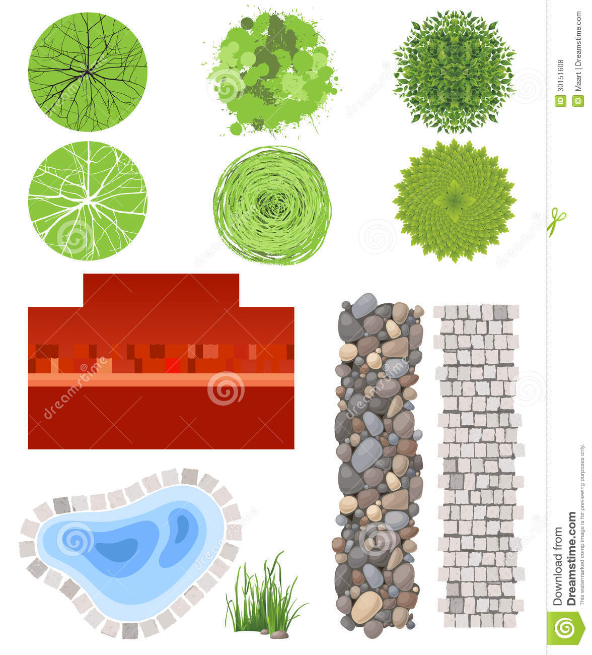 landscape design elements royalty free stock photos