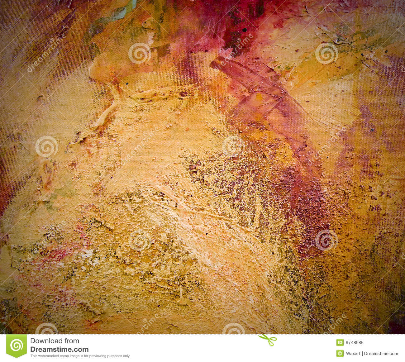 Highly Textured Abstract Painting On Canvas Stock Image Image of
