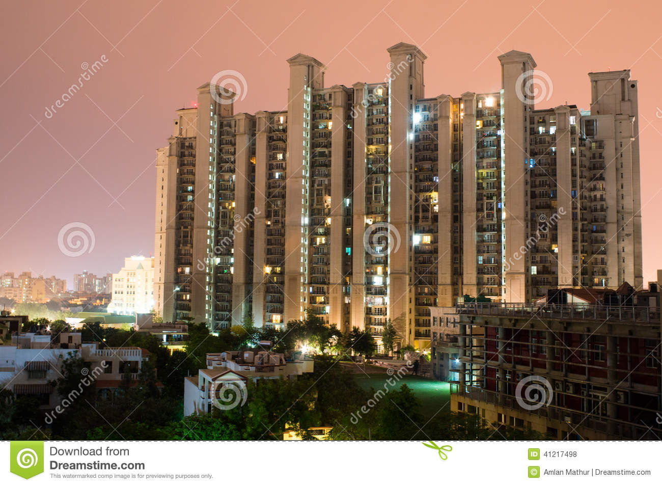 Highrise multistory apartments in Gurgaon India provide homes to much ...