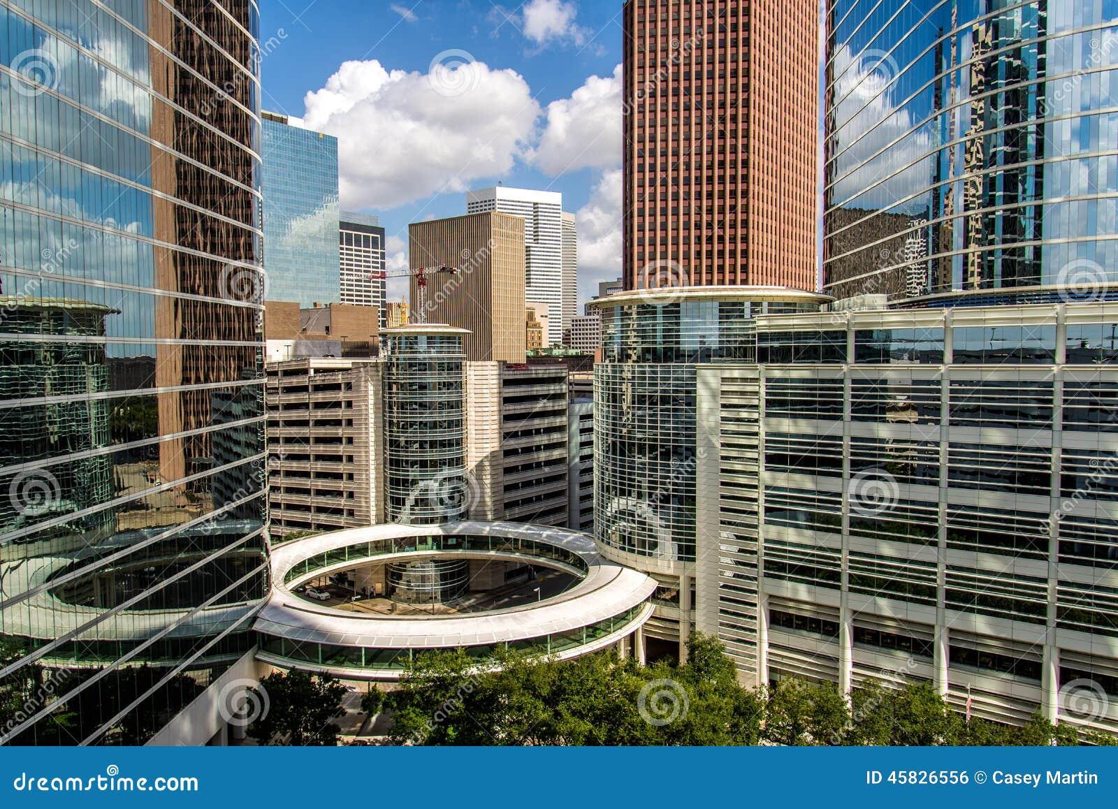 Highrise van Houston gebouwen de van de binnenstad