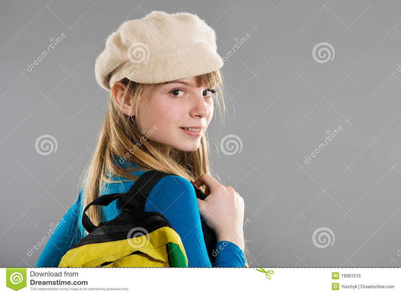 Highschool Girl Wearing Beret Royalty Free Stock Photo ...