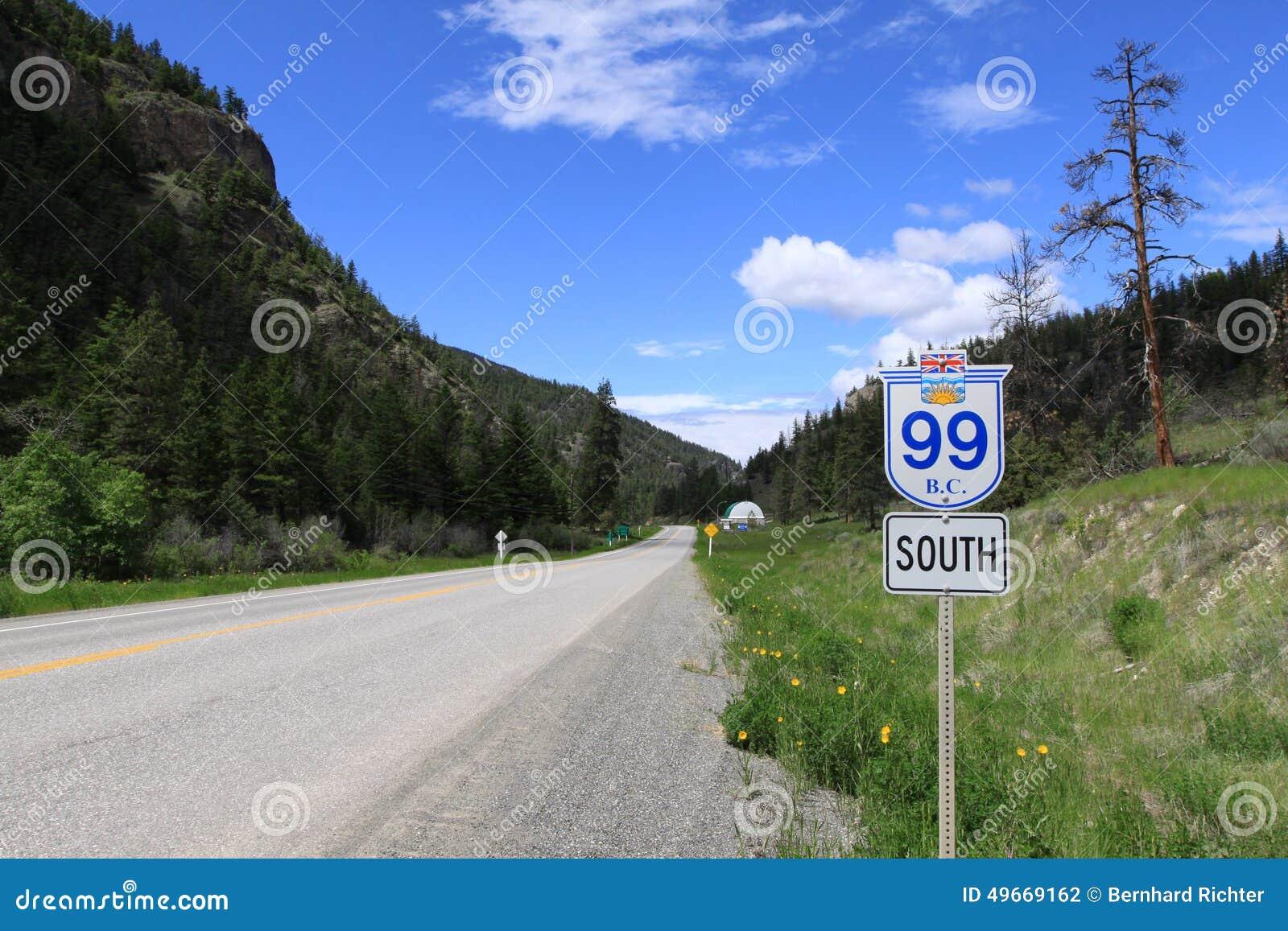 Highway 99 In British Columbia Canada