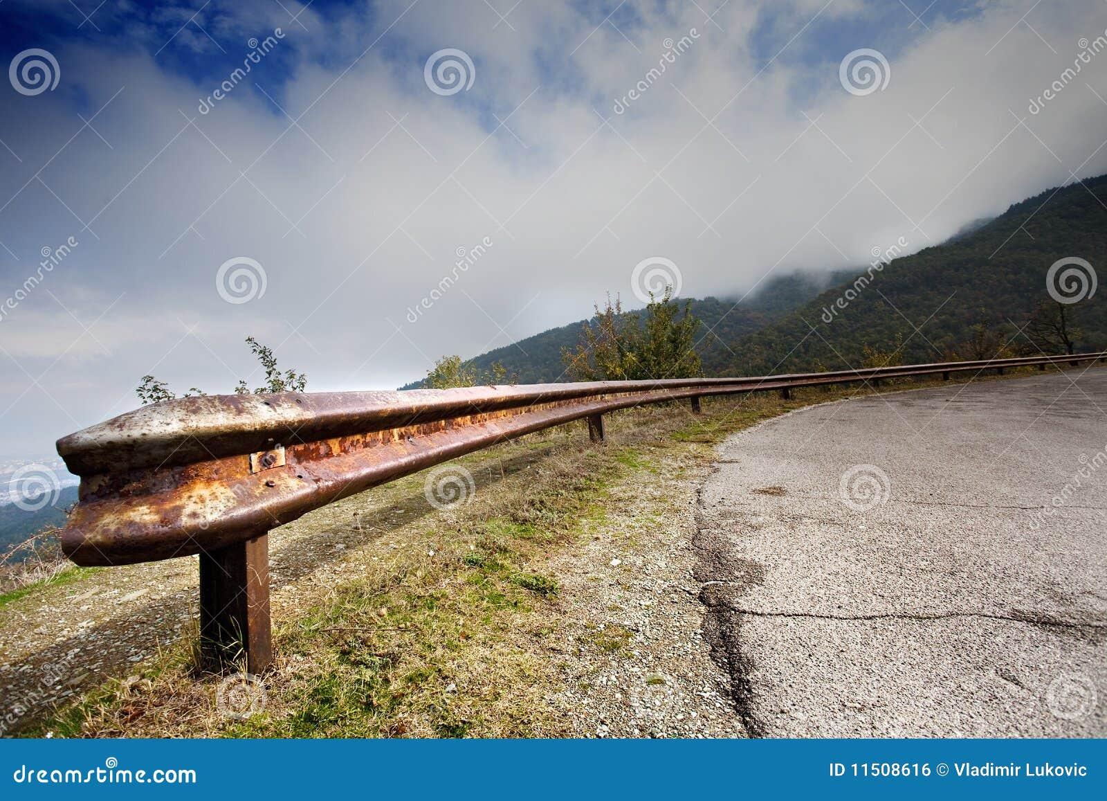 Highway guard rail royalty free stock image