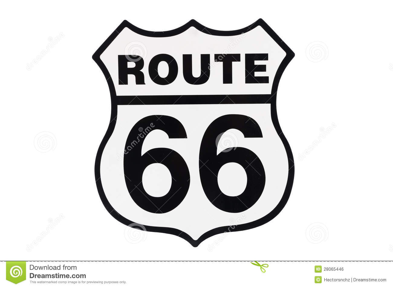 Highway Road Sign Route 66 Royalty Free Stock Image - Image: 28065446