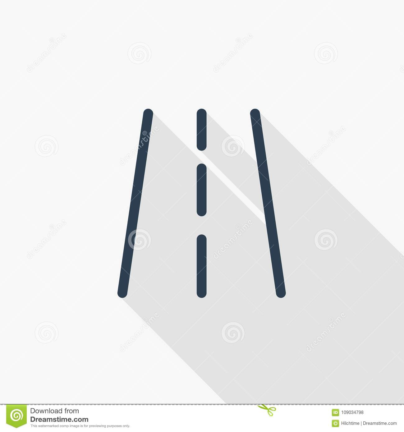 Highway Road Transport Traffic Thin Line Flat Icon Linear Vector