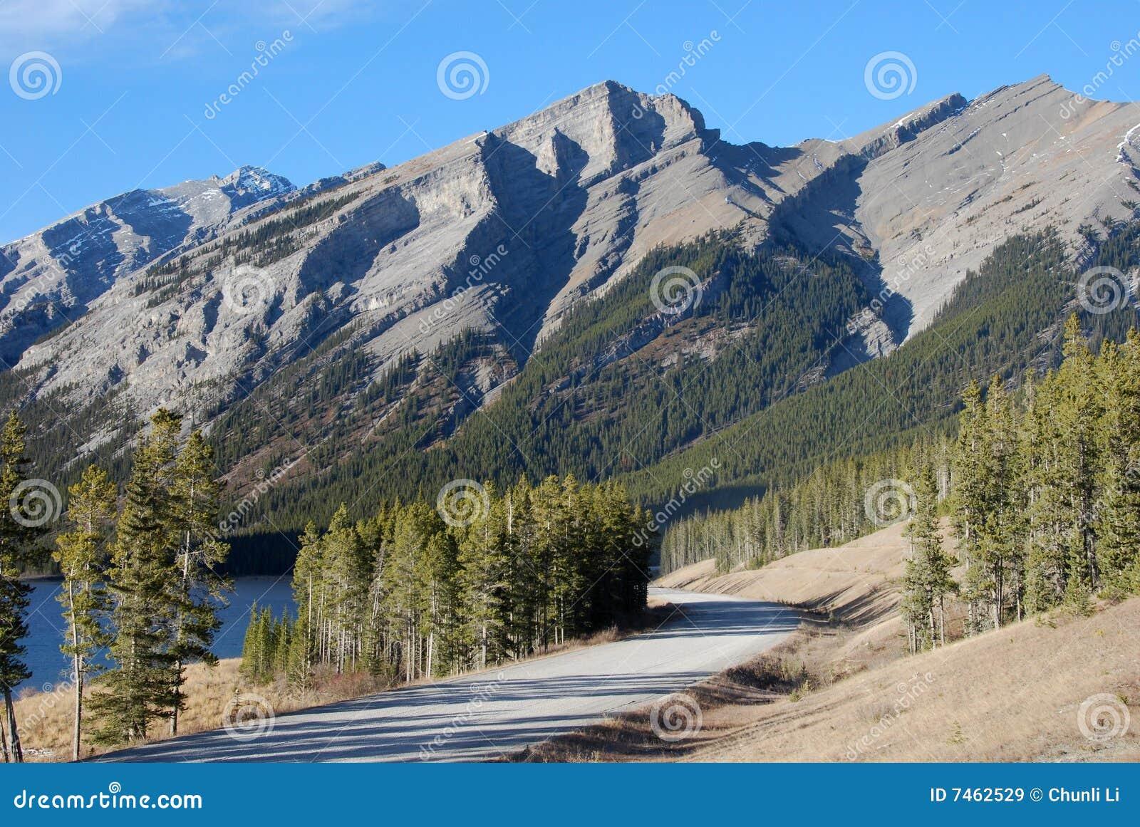 Highway in Rockies