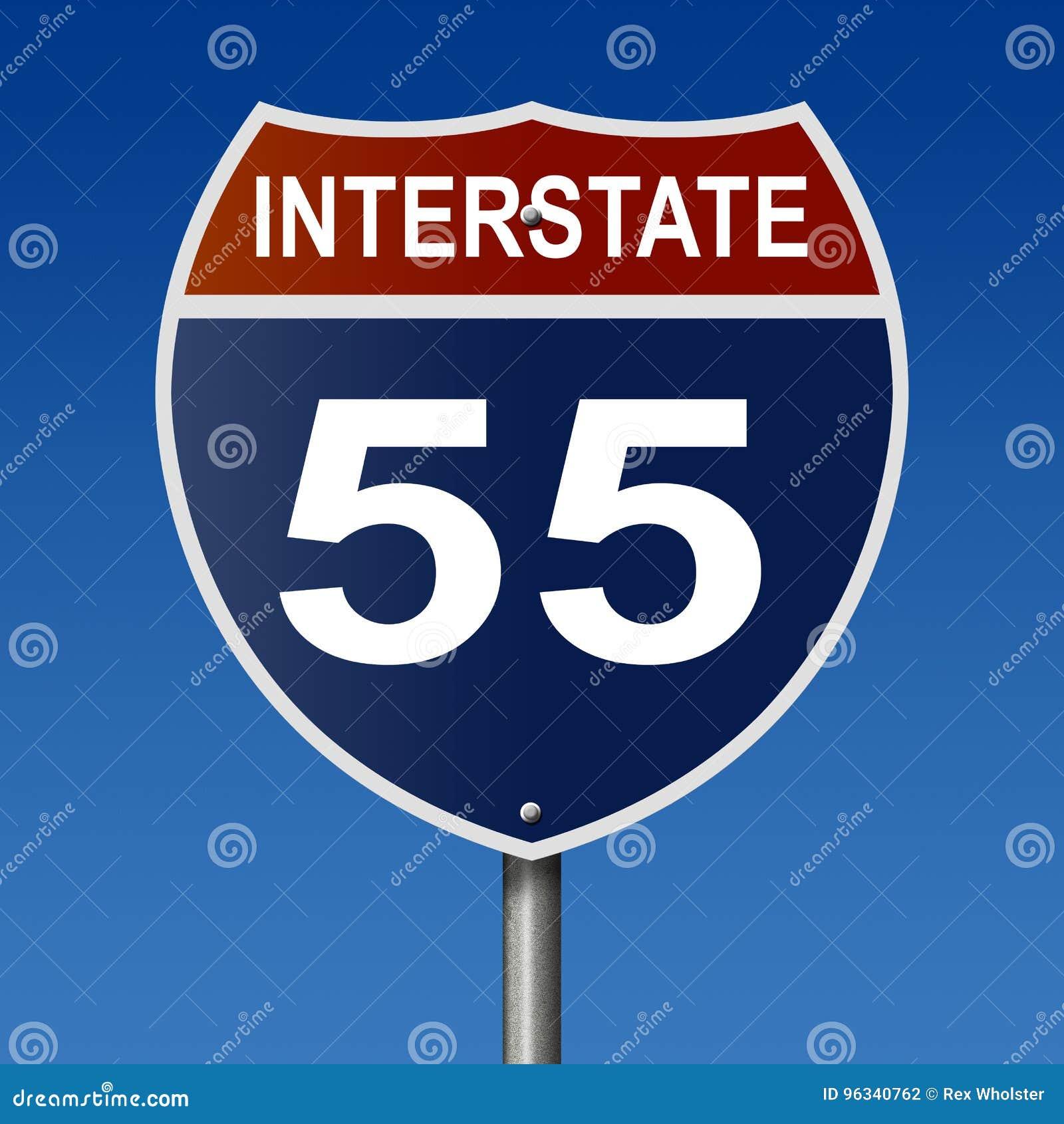 Highway sign for interstate 55 stock illustration illustration of download highway sign for interstate 55 stock illustration illustration of rendering transportation 96340762 publicscrutiny Images