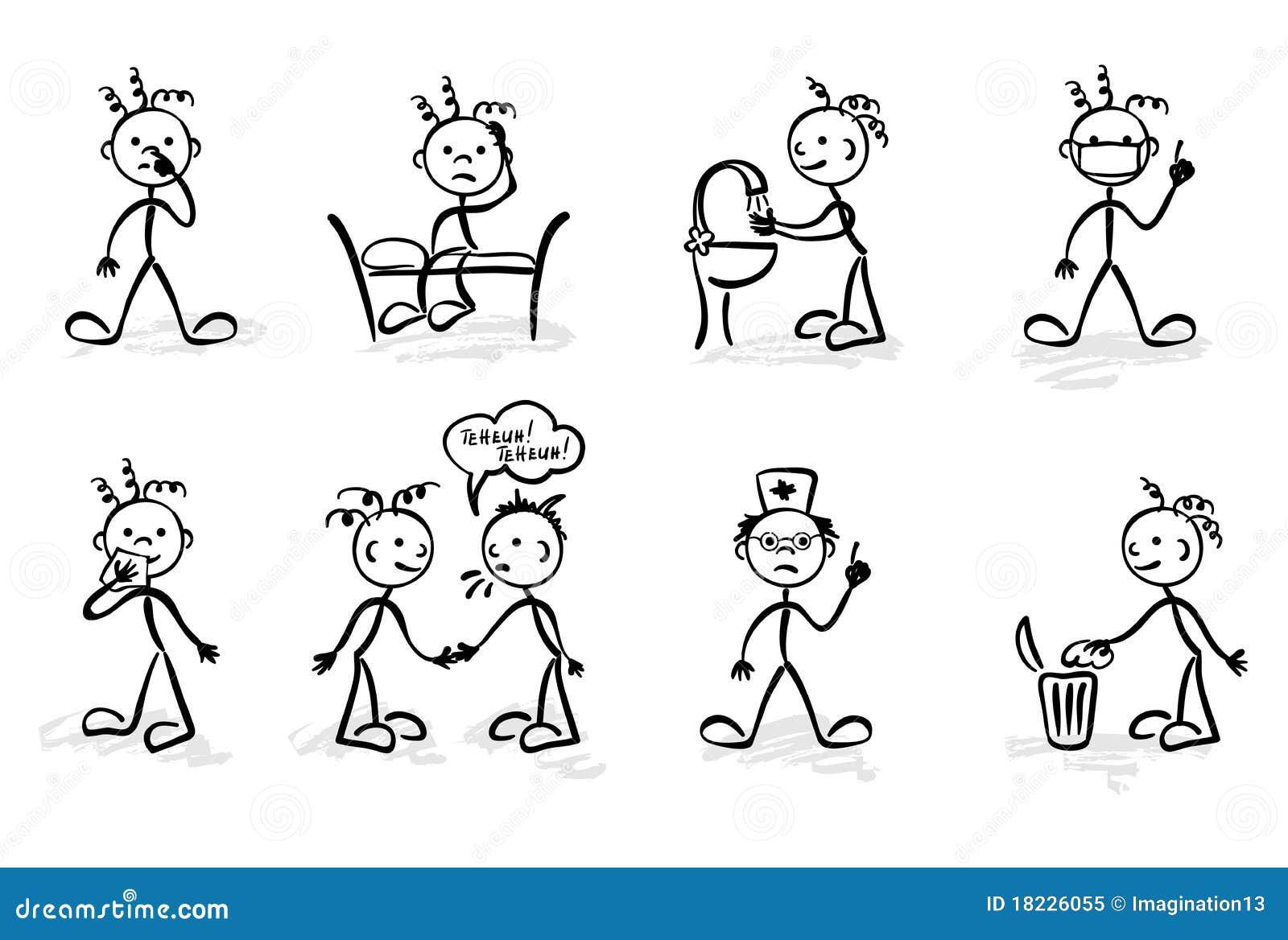 Um jogo de ilustrações gráficas criaturas pequenas engraçadas e  #84A625 1300 966