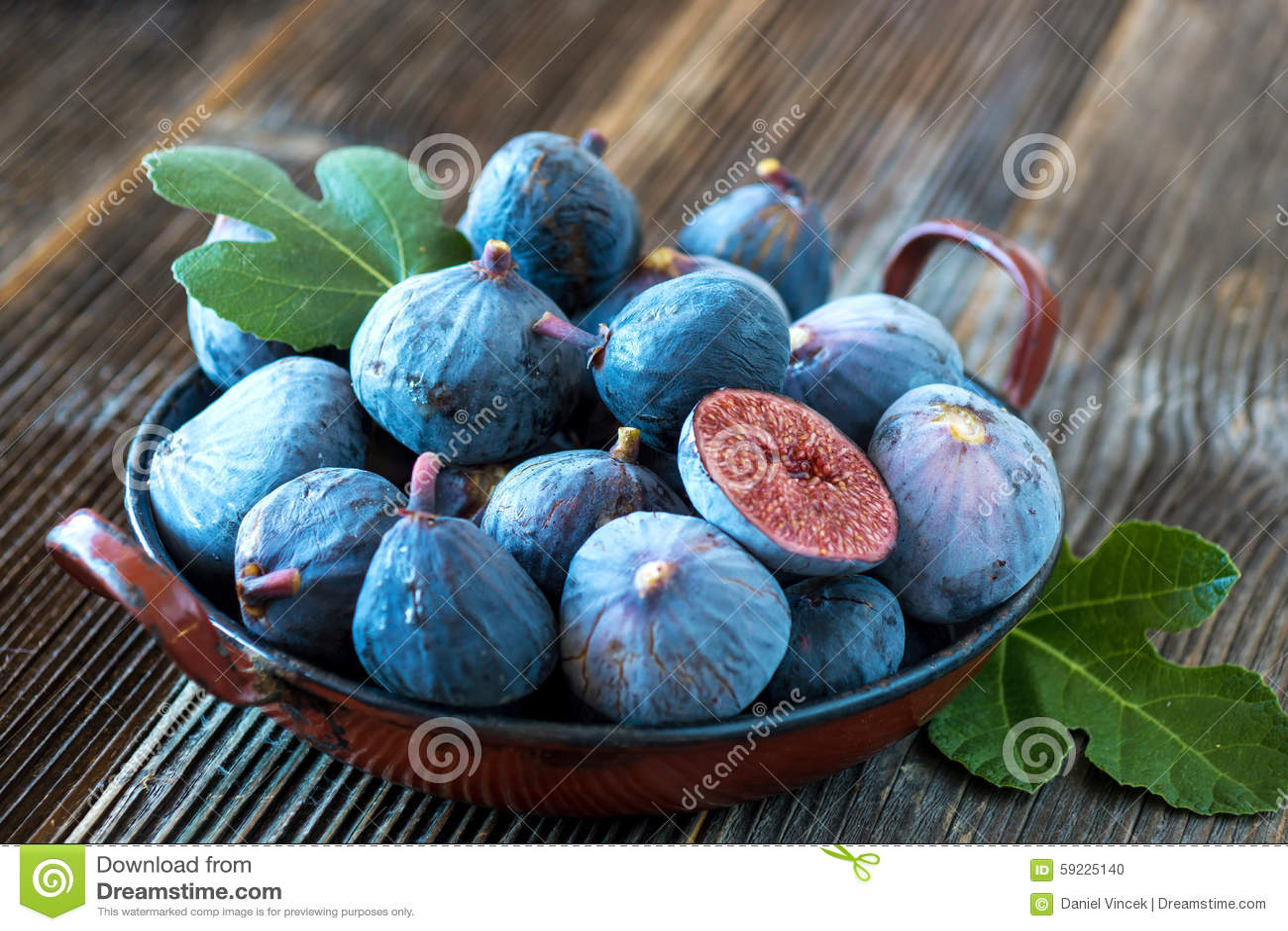 Higos orgánicos frescos