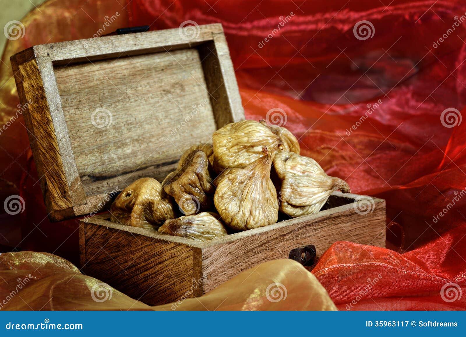 Higos secados en caja