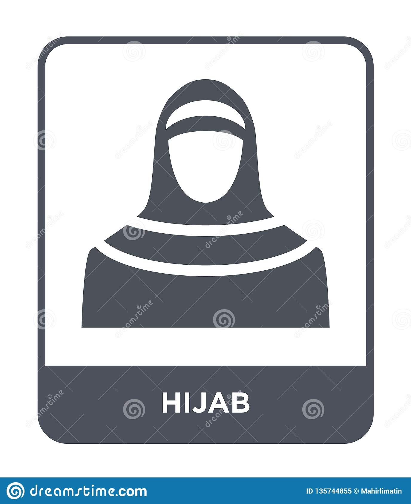 hijab icon in trendy design style. hijab icon isolated on white background. hijab vector icon simple and modern flat symbol for