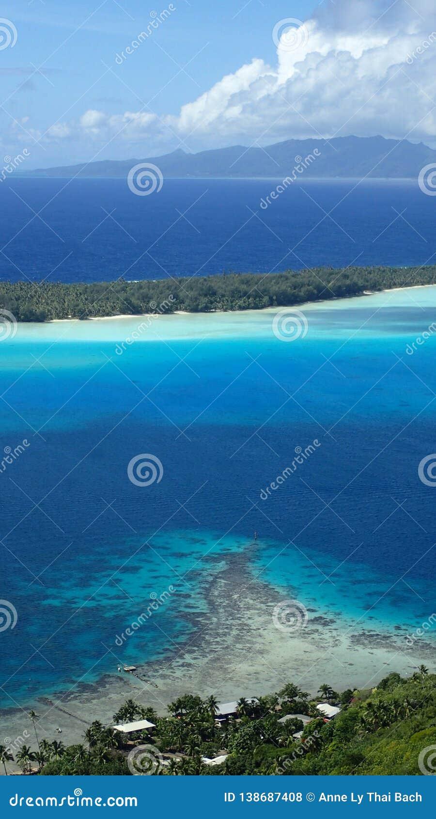 Hike Bora Bora French Polynesia Tropical Island View On The