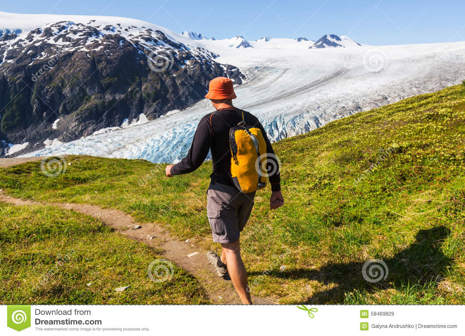 Hike In Exit Glacier Stock Image. Image Of Fjords, America
