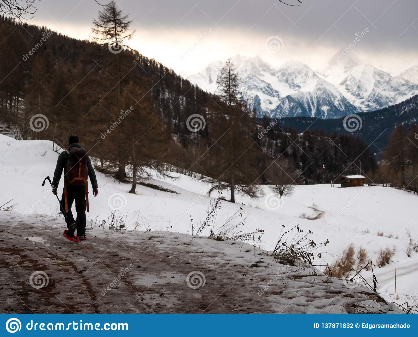 Hiker at Chamois