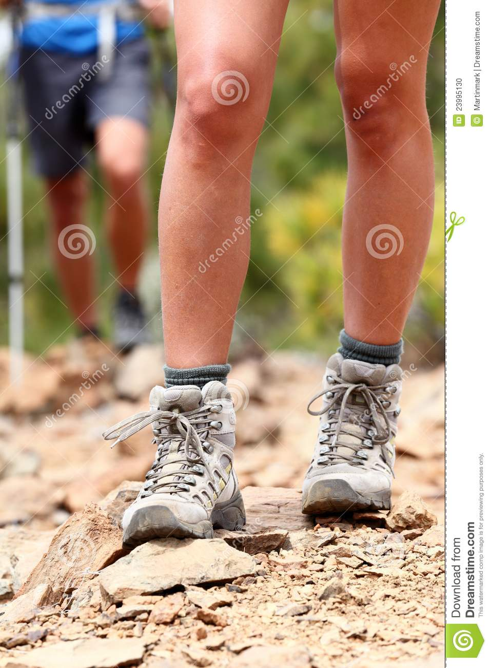 Hiker Shoes - Hiking Boots Walking Stock Photo - Image: 23995130