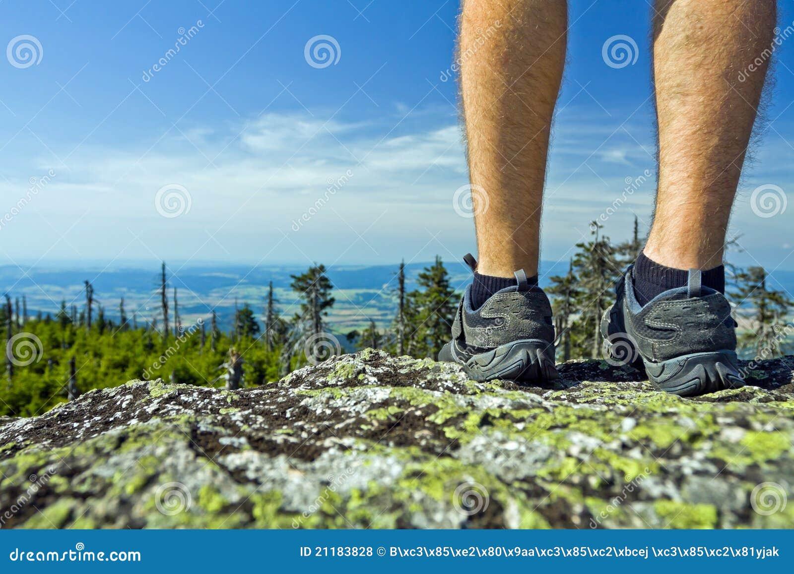 Hiker on summit