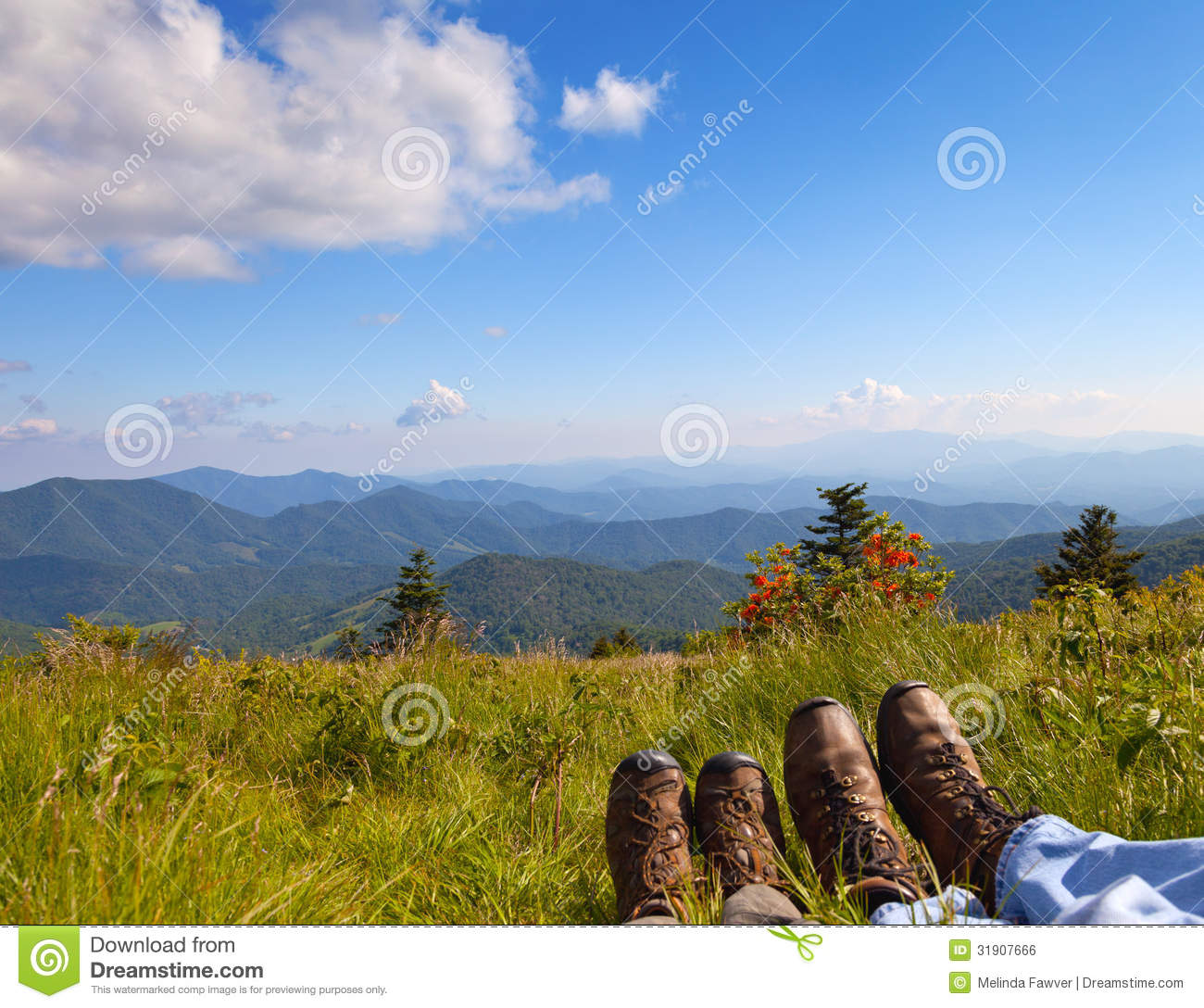 Roan Mountain State Park: Hikers Royalty Free Stock Image