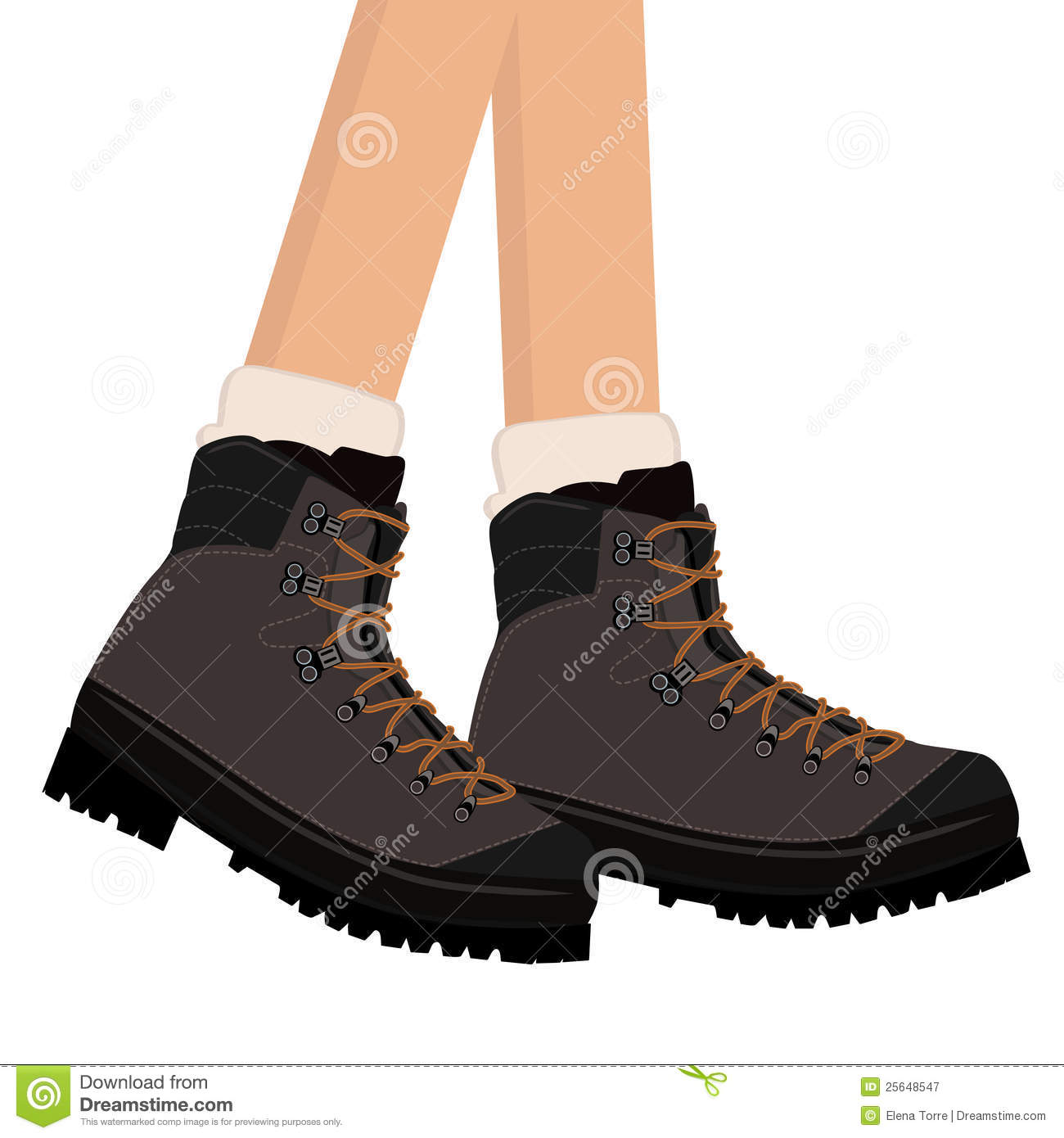 Hiking Boots Vector Stock Vector Illustration Of Leather 25648547