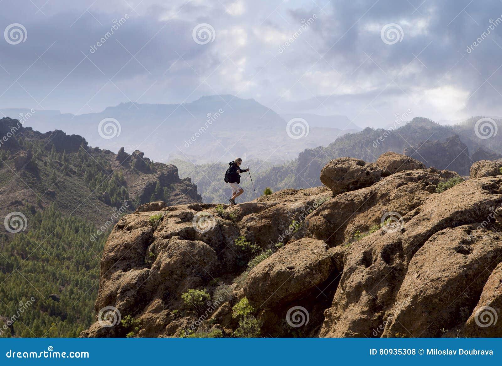 Hiking Gran Canaria Stock Photo Image Of Nordic Rocks