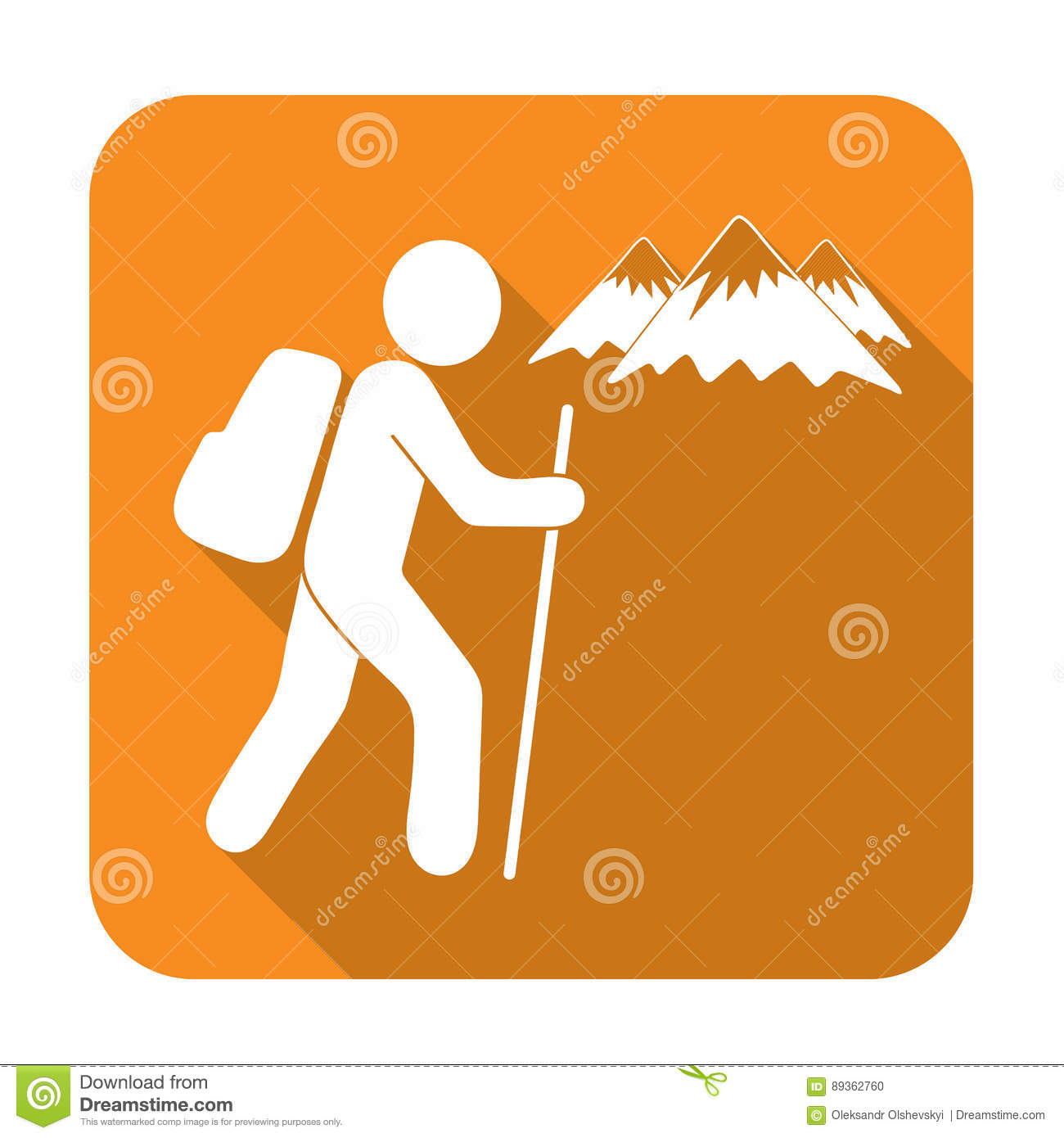 hiking icon illustration stock vector image 89362760